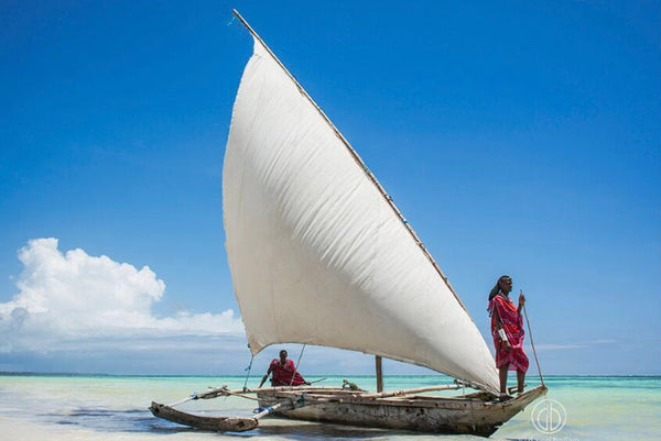 "ARTWORK BALLAM D1 - ZAN81 ""2 MAASAI SAILING"" COLOUR"