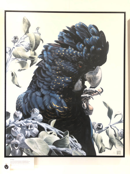 "UNIQUE ""BLACK COCKATOO"" CANVAS ARTWORK"