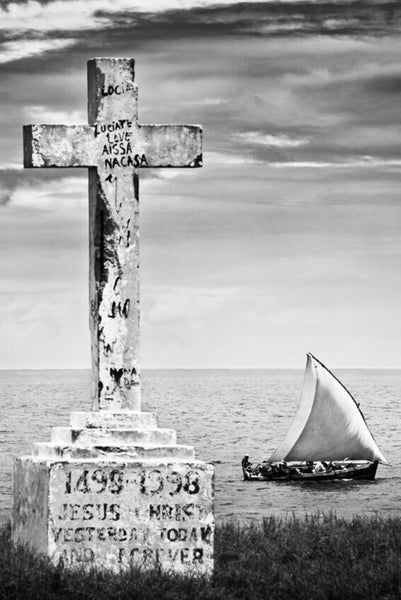 ARTWORK BALLAM 2a - ILHA53 Cross and Dhow Mozambique