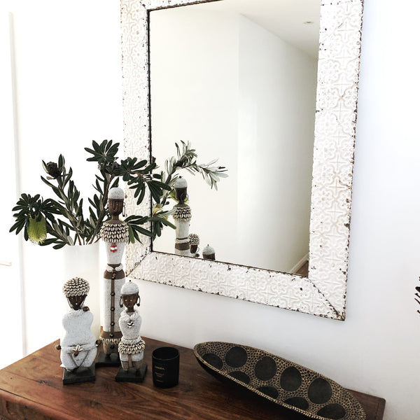 MIRROR - HANDPRESSED TIN FRAME