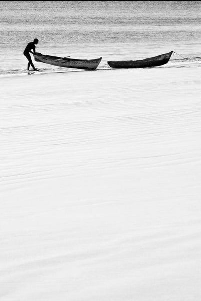 ARTWORK BALLAM -  1 MAN & 2 CANOES (Port...