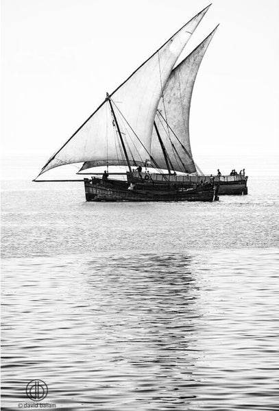 ARTWORK BALLAM 4A - DHOWS IN ZANZIBAR (Port...