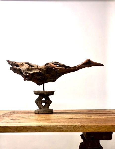 WOODEN BIRD SCULPTURE (South Africa)