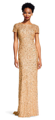 Adrianna Papell Gold Bridesmaid Dress