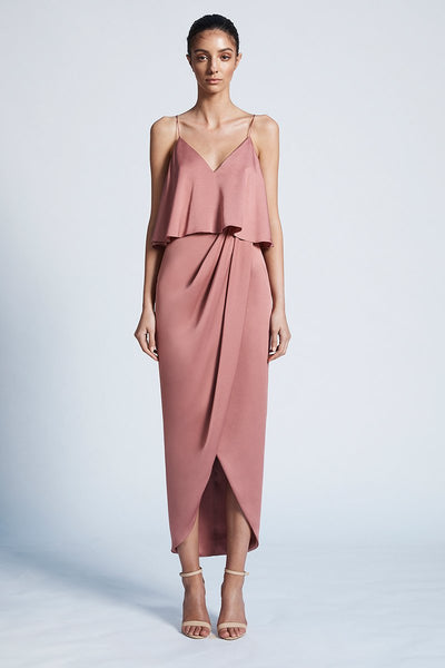 Shona Joy Luxe Cocktail Frill Rose