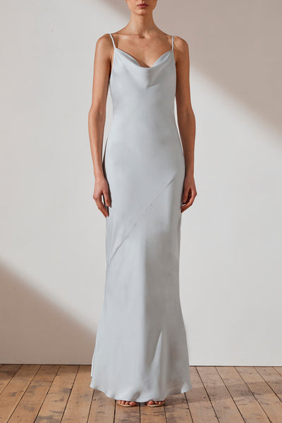 Shona Joy Luxe Bias Cowl Slip Dress Elise Cloud
