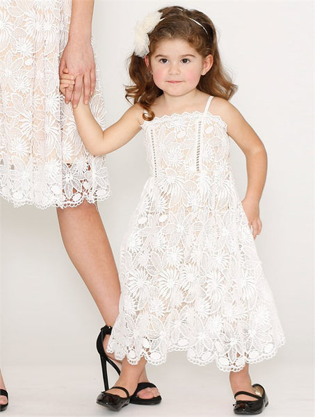 Dark Angel Floaty Dress - White - SAMPLE SALE
