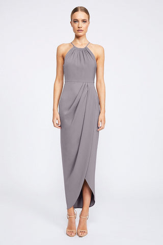 Shona Joy Core High Neck Ruched Grey