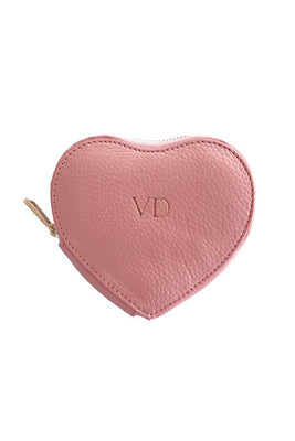 Personalised Love Heart Pouch - Pink