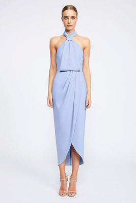Core Knot Draped Dress by Shona Joy - Cornflower