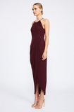 Shona Joy Core High Neck Ruched Burgundy