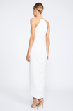 Shona Joy Core High Neck Ruched Ivory