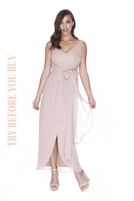 Try Before You Buy Bridesmaids Dress Ella in Melted Mauve