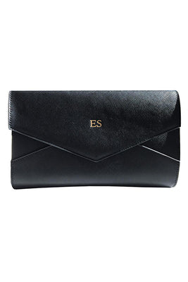 Personalised Envelope Clutch - Black