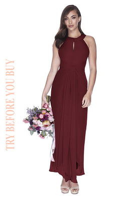 Try Before You Buy Bridesmaids Dress Mila in Merlot