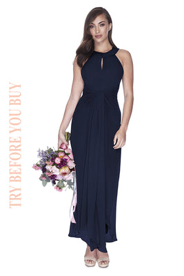 Try Before You Buy Bridesmaids Dress Mila in Navy