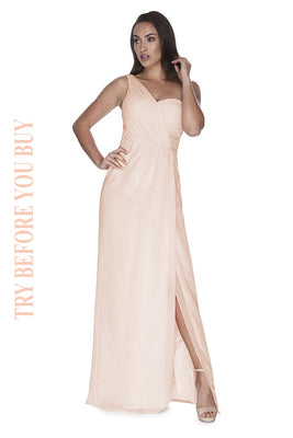 Try Before You Buy Bridesmaids Dress Millie in Barely Blush
