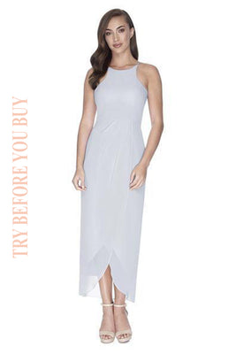 Try Before You Buy Bridesmaids Dress Skye in Earl Grey