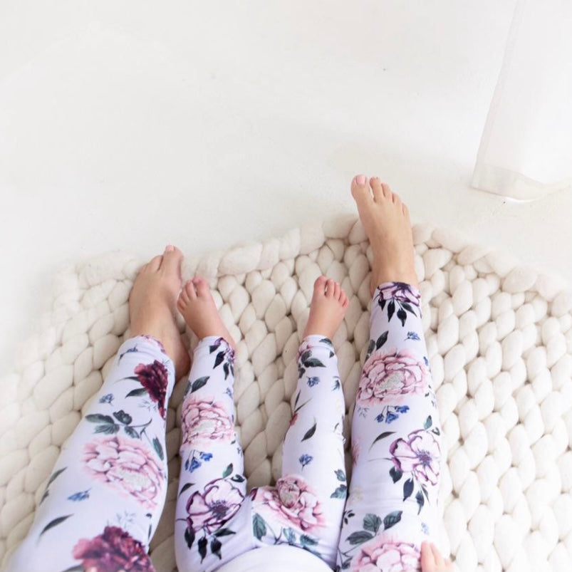 Botanical Leggings - Purple - Mom