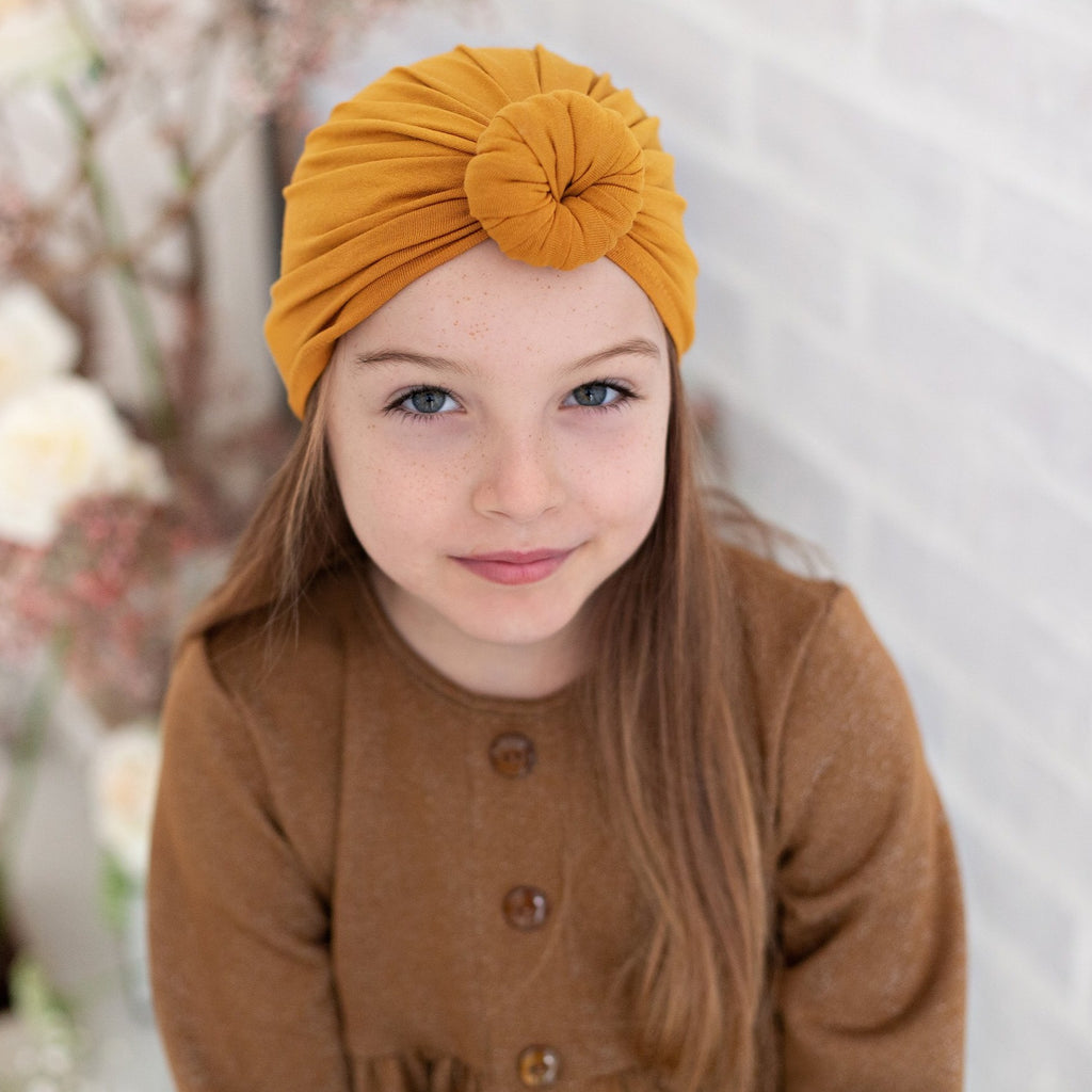 Knotted Turban - Mustard