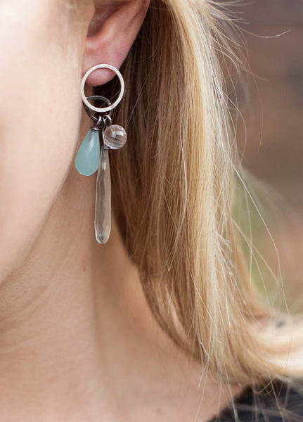 Circle Droplet Earrings
