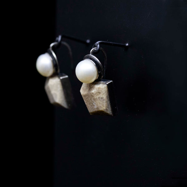 Coral Mountain Earrings