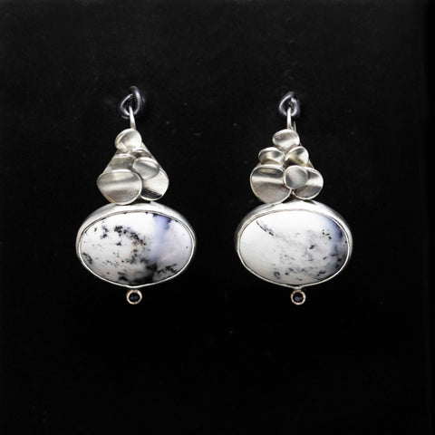 Winter scene earrings