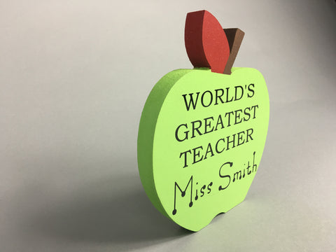 An apple for teacher! Personalised teacher gift