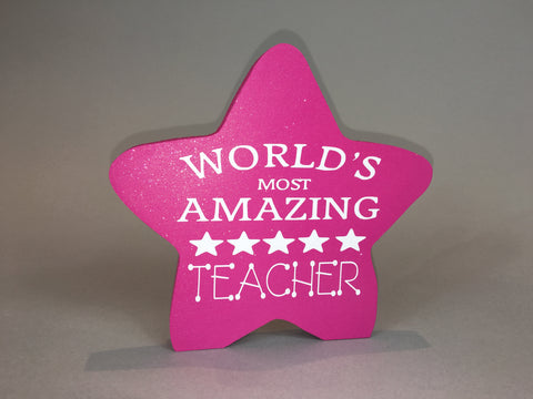 Teacher you're a star!