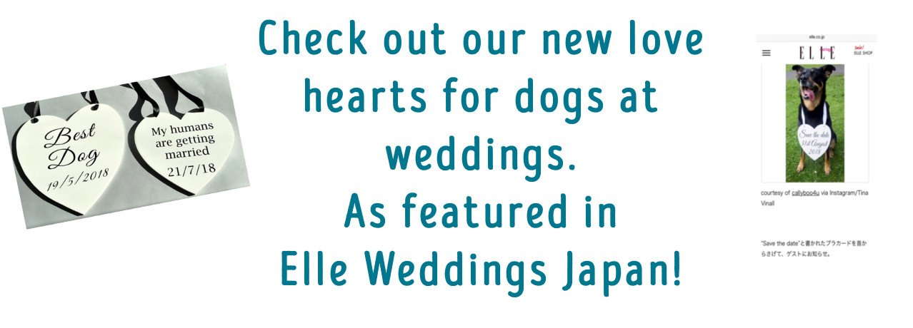 Love hearts for wedding dogs