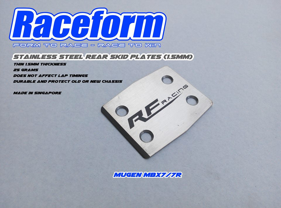 RACEFORM STAINLESS STEEL SKID PLATE (MUGEN MBX7/7R)