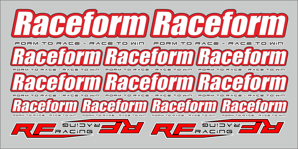 RACEFORM TEAM DECALS