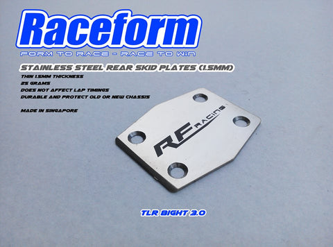 RACEFORM STAINLESS STEEL SKID PLATE (TLR 8ight 3.0)