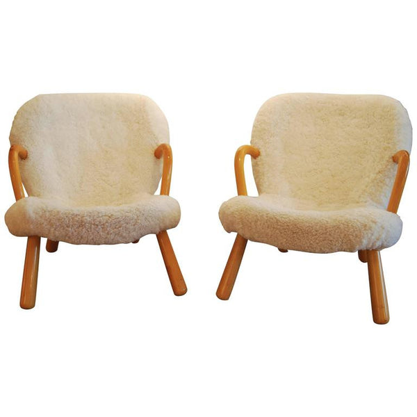 Pair of 'Clam Chair' by Philip Arctander, Denmark 1940s