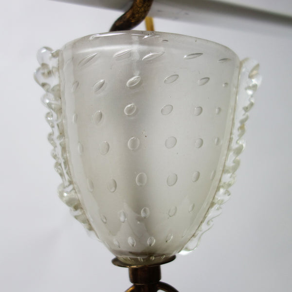 Pair of Hanging Fixture by Ercole Barovier