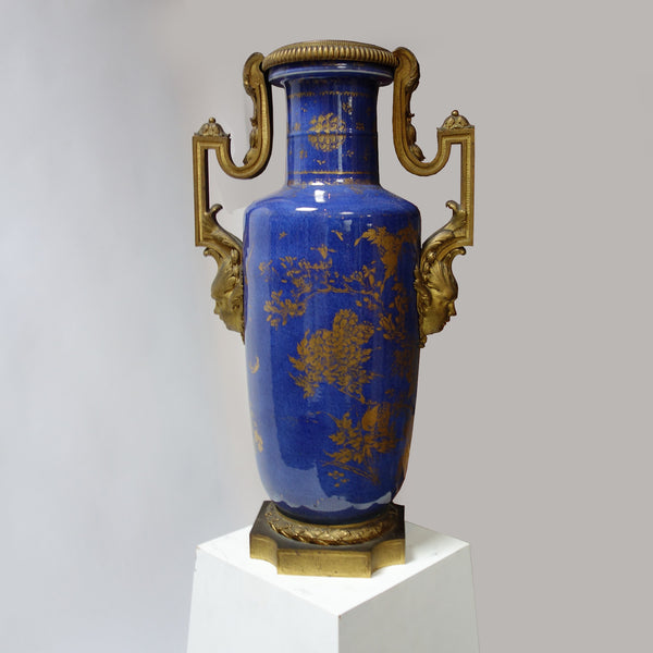 Quianlong Vase with Bronze fitting