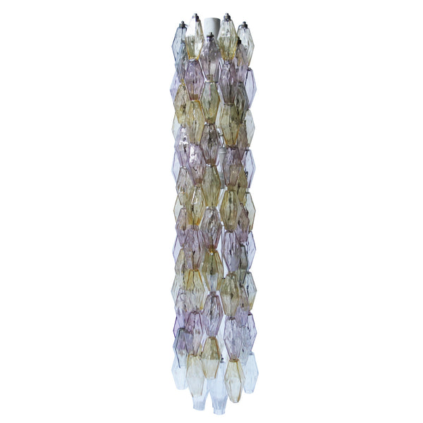 "Majestic Handblown Murano Glass ""Poliedri"" Chandelier by Carlo Scarpa"