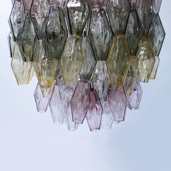 "Large Murano Glass ""Poliedri"" Chandelier by Carlo Scarpa"