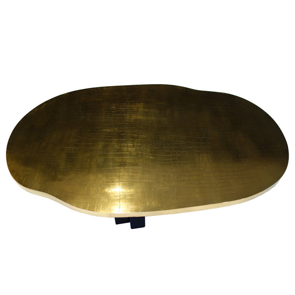 Etched Brass Coffee Table by Christian Krekels
