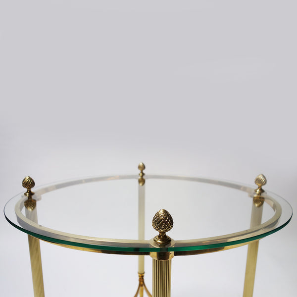 Pair of brass side table