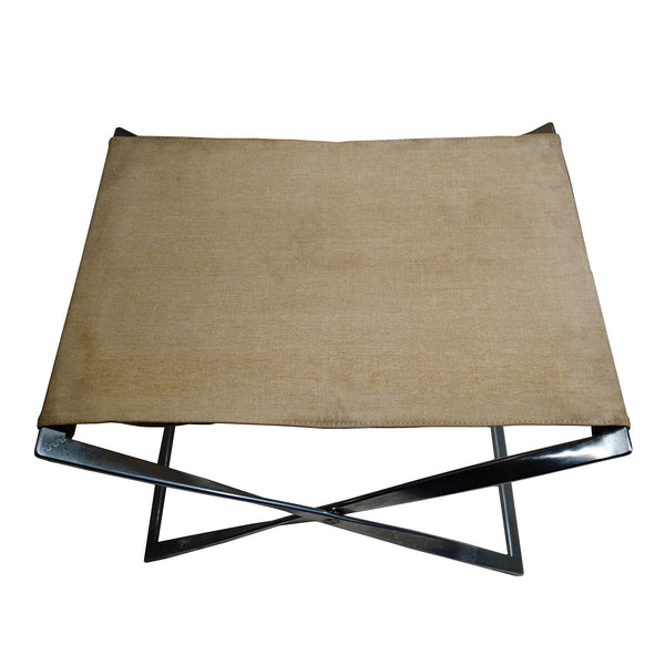 Pair of PK91 canvas stool designed by Poul Kjaerholm