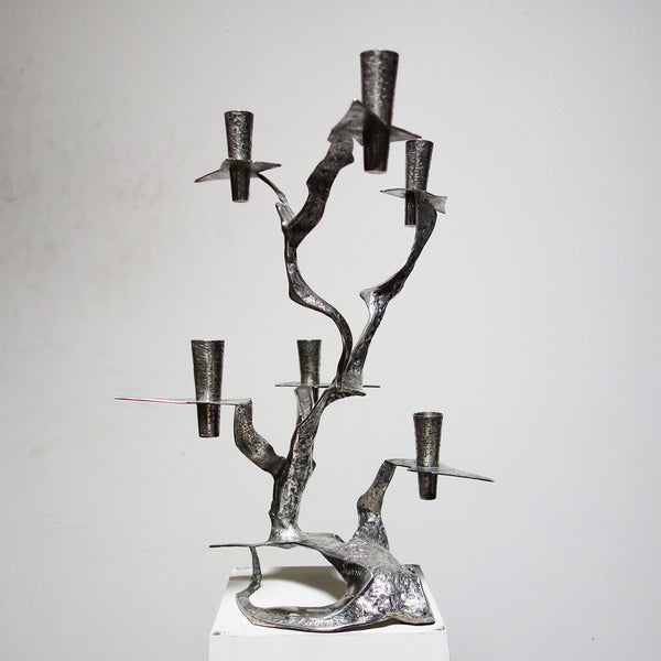 Unique Sterling Silver Candelabra