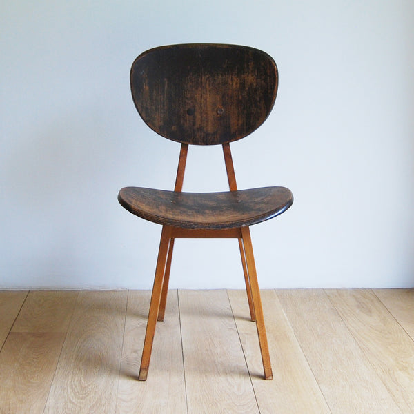 Pair of side chairs, model no. 3221, by Junzo Sakakura