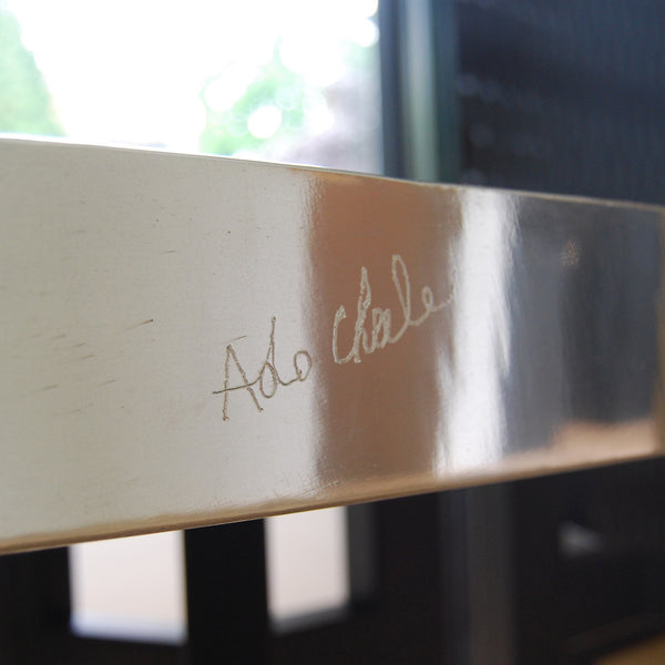 "Majestic ""water drop"" aluminum dining room table by Ado Chale"
