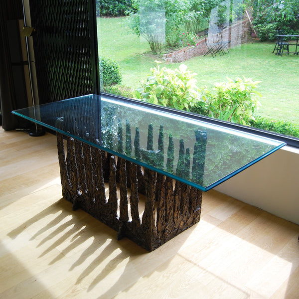 Brutalist dining room table by Adrian Pearsall