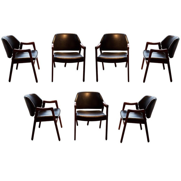 Set of Seven Armchairs by Ico Parisi, Model 814