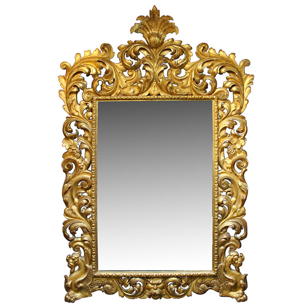 Gilt Louis XV mirror