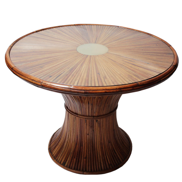 Dining room table in bamboo by Gabriella Crespi