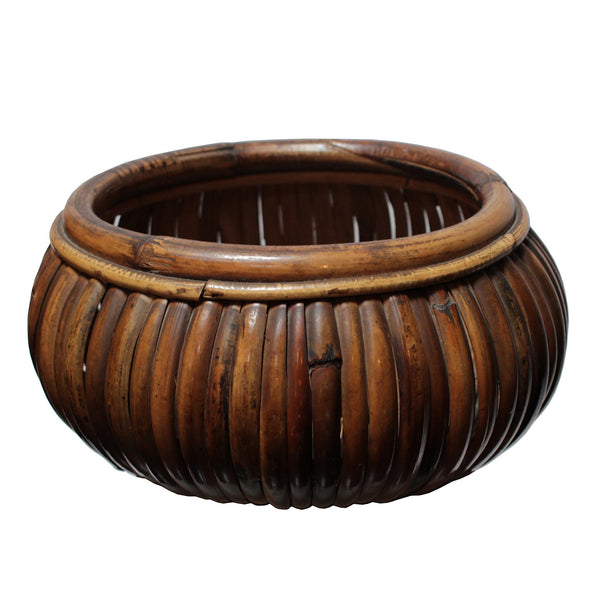 Large bamboo bowl by Gabriella Crespi