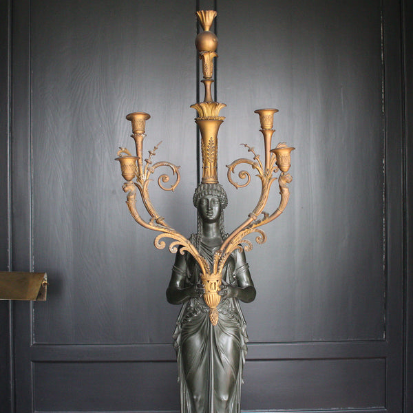 Pair of athenian candelabra by Lefevre Caters